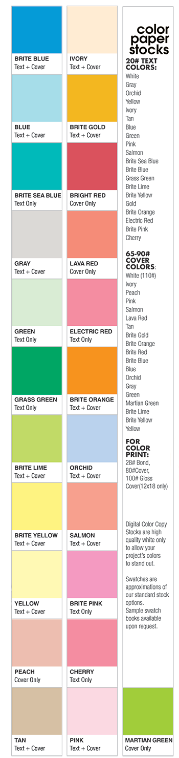 BCIU Print Services Center Color Stock Options