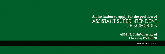 Invitation to Apply for Assistant Superintendent Twin Valley