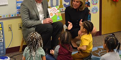 Senator Casey Reads Book to BCIU Child Care Classroom