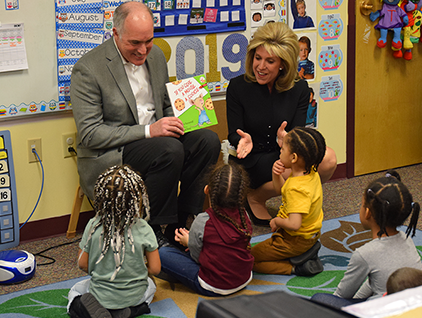 Senator Casey Reads Book to BCIU Child Care Classroom