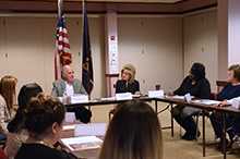 Senator Casey leading discussion with parents and educators