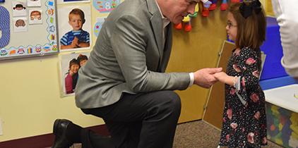 Senator Casey with Paisley at BCIU Education Centre