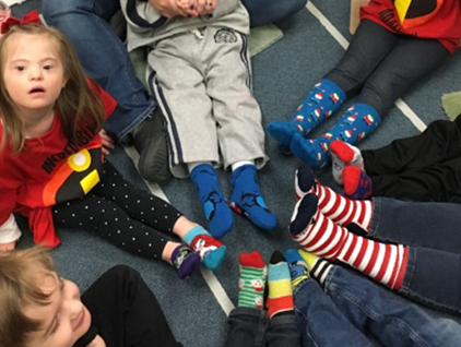 BCIU Students Rock Their Rocks for World Down Syndrome Day