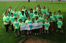 Group photo of Camp Connect campers and buddies.