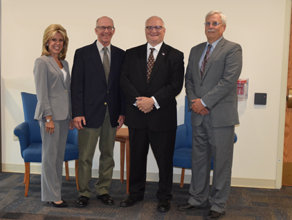Dr. Ed Michalik (second from right) was named the 2019 BCIU Outstanding Community Partner